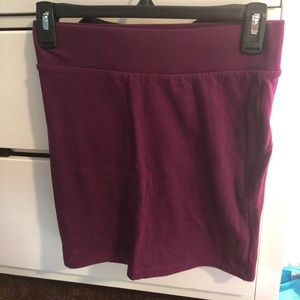 Purple bodycon skirt